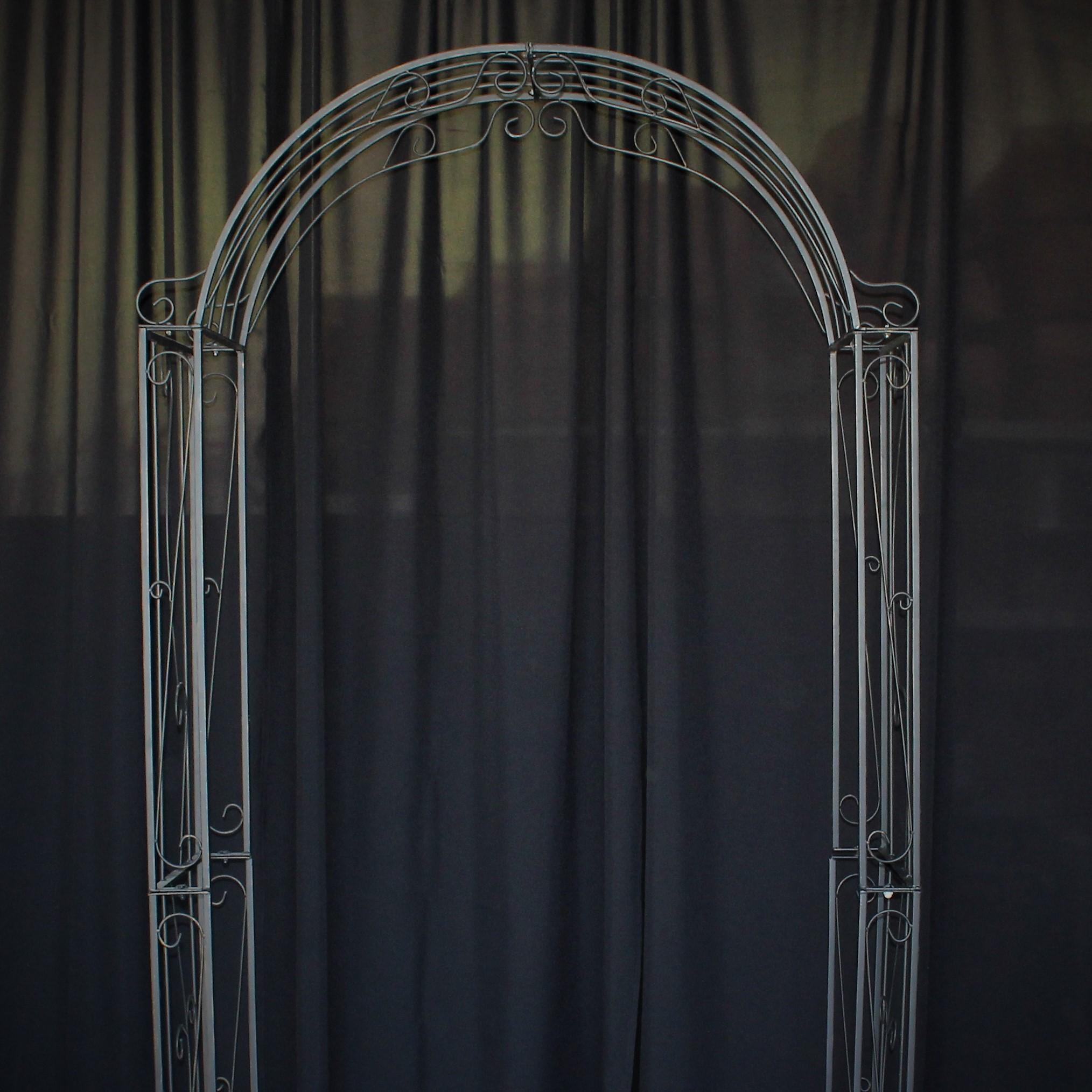 Romantic Decorative Iron Wedding Arch Indoor And Outdoor