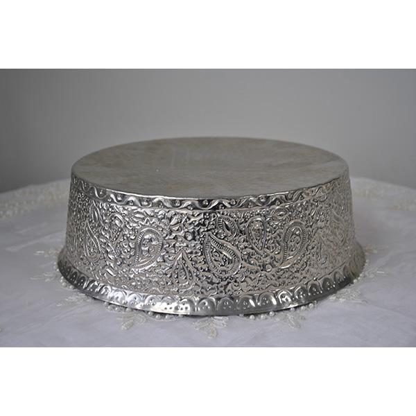 Medium Silver Decorative Wedding Cake Stand